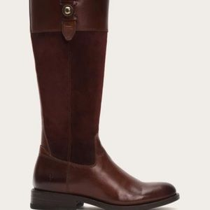Frye Jayden Button Tall Leather Riding Boot